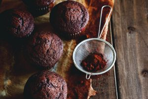 Almond flour beetroot and chocolate cupcakes